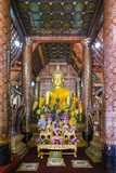 Main Altar, Interior of Wat Xieng Thong Buddhist Temple, UNESCO World Heritage Site Photographic Print by Jason Langley