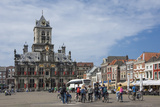 City Hall, Main Square, Local Cyclists, Delft, Holland, Europe Photographic Print by James Emmerson