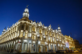 The Gran Teatro (Grand Theater) Illuminated at Night, Havana, Cuba, West Indies, Caribbean Photographic Print by Yadid Levy