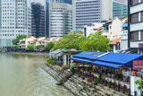 Quayside Restaurants in Boat Quay, Singapore, Southeast Asia, Asia Photographic Print by Fraser Hall