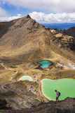 Hiking at the Emerald Lakes, Tongariro Alpine Crossing Trek, Tongariro National Park Photographic Print by Matthew Williams-Ellis