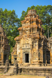 Prasat Preah Ko Temple Ruins, Roluos, UNESCO World Heritage Site, Siem Reap Province, Cambodia Photographic Print by Jason Langley
