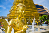 Kinnara Statue at Temple of the Emerald Buddha (Wat Phra Kaew), Grand Palace Complex, Bangkok Photographic Print by Jason Langley