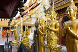 Gold Buddhas at Doi Suthep Temple, Chiang Mai, Thailand, Southeast Asia, Asia Photographic Print by Alex Robinson
