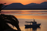 Sun Rise over the Lagoon of Sant'Antioco, Sardinia, Italy, Mediterranean, Europe Photographic Print by Oliviero Olivieri