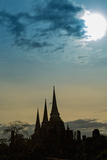Silhouetted Chedis (Stupas), Ayutthaya, UNESCO World Heritage Site, Thailand, Southeast Asia, Asia Photographic Print by Alex Robinson