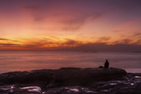 Watching Sunset from the Western Shore of Tenerife in the Canary Islands, Spain, Atlantic, Europe Photographic Print by Garry Ridsdale