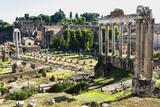Roman Forum with the Temple of Saturn, Rome, UNESCO World Heritage Site, Lazio, Italy, Europe Photographic Print by Nico Tondini