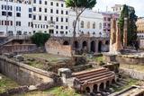 Ruins of Roman Temples at Area Sacra Di Largo Di Torre Argentina, Rome, UNESCO World Heritage Site Photographic Print by Nico Tondini