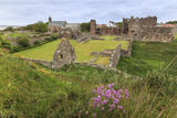 Lindisfarne Priory, Early Christian Site, and Village, Elevated View, Holy Island Photographic Print by Eleanor Scriven