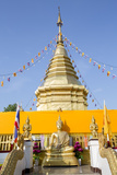 Temple Chedi (Stupa) at Doi Kham (Wat Phra That Doi Kham) (Temple of the Golden Mountain) Photographic Print by Alex Robinson