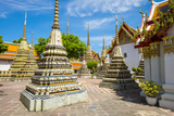 Stupas at Wat Pho (Temple of the Reclining Buddha), Bangkok, Thailand, Southeast Asia, Asia Photographic Print by Jason Langley