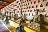 Buddha Statues Inside Wat Si Saket (Wat Sisaket) Temple, Vientiane, Laos, Indochina, Southeast Asia Photographic Print by Jason Langley
