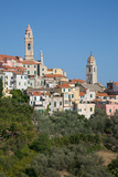 View of Cervo, Imperia, Liguria, Italy, Europe Photographic Print by Frank Fell