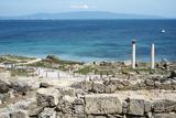 The Phoenician Roman Port of Tharros, Sardinia, Italy, Mediterranean, Europe Fotografisk tryk af Oliviero Olivieri