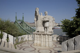 Statue of Saint Stephen Kiraly Near Liberty Bridge, Budapest, Hungary, Europe Photographic Print by Julian Pottage