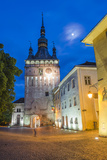 Sighisoara Clock Tower at Night in the Historic Centre of Sighisoara, a 12th Century Saxon Town Photographic Print by Matthew Williams-Ellis