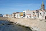 The Sea Promenade of Alghero, Sardinia, Italy, Mediterranean, Europe Fotografisk tryk af Oliviero Olivieri