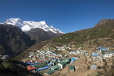 Namche, the Main Trading Centre and Tourist Hub for the Khumbu (Everest Region) with Kongde Ri Peak Photographic Print by Alex Treadway