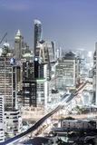 Bangkok Skyline Showing the Skytrain and Chit Lom, Sukhumvit and Ploen Chit Areas, Bangkok Photographic Print by Alex Robinson