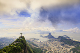 View of the Christ Statue, Sugar Loaf and Guanabara Bay. Rio De Janeiro, Brazil, South America Photographic Print by Alex Robinson