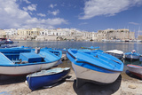 Fishing Boats at the Port, Old Town with Castle, Gallipoli, Lecce Province, Salentine Peninsula Photographic Print by Markus Lange