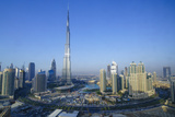 Burj Khalifa and Surrounding Downtown Skyscrapers, Dubai, United Arab Emirates, Middle East Fotografisk tryk af Fraser Hall