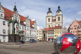 Town Square with Stadtkirke and Town Hall, Lutherstadt Wittenberg, Saxony-Anhalt, Germany, Europe Photographic Print by James Emmerson