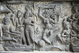 Hindu Carvings on the Prambanan Temples, UNESCO World Heritage Site, Near Yogyakarta Photographic Print by Alex Robinson