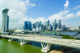 Busy Roads Leading to the Marina Bay Sands Photographic Print by Fraser Hall