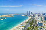 Skyline and Corniche, Al Markaziyah District, Abu Dhabi, United Arab Emirates, Middle East Fotografisk tryk af Fraser Hall