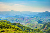 Rolling Hills and Mountains, Lush Rural Landscape, Vientiane Province, Laos, Indochina Photographic Print by Jason Langley