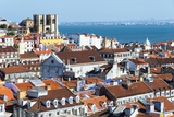 Se (Cathedral) and City Skyline, Lisbon, Portugal, Europe Photographic Print by G&M Therin-Weise