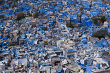 The Blue City of Jodhpur Seen from the Mehrangarh Fort, Jodhpur, Rajasthan, India, Asia Photographic Print by Alex Treadway