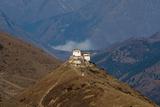 Lingzhi Dzong, a Spectacular Site on the Laya-Gasa Trek, Thimpu District, Bhutan, Asia Photographic Print by Alex Treadway