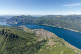 Aerial View of the Villages Mandello Del Lario and Abbadia Lariana Overlooking Lake Como Photographic Print by Roberto Moiola