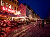Evening at Nyhavn, Copenhagen, Denmark, Scandinavia, Europe Photographic Print by Jim Nix