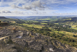 View Towards Chatsworth from Curbar Edge, with Calver and Curbar Villages Photographic Print by Eleanor Scriven