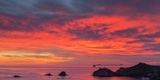 Looking South-East from New Zealand's Coromandel Peninsula to the Alderman Islands at Dawn, Waikato Photographic Print by Garry Ridsdale