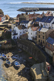 Winding Alleys of Village, Fishing Boats and Sea, Elevated View in Summer Photographic Print by Eleanor Scriven