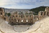 Theatre of Herod Atticus Below the Acropolis with the Hill of Philippapos and City View, Athens Photographic Print by Eleanor Scriven