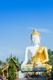 Giant Sitting Buddha at Doi Kham (Wat Phra That Doi Kham) (Temple of the Golden Mountain) Photographic Print by Alex Robinson