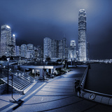 Central and Western District Promenade Leads Through to Skyscrapers on Hong Kong Island Photographic Print by Garry Ridsdale