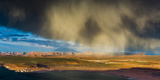 Storm Passes across Navajo Mountain Just before Sunset, Page, Arizona Photographic Print by Garry Ridsdale