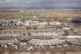 Aerial of Charles De Gaulle Airport, Paris, France, Europe Photographic Print by Julian Elliott
