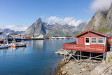 Fishing Village and Harbour Framed by Peaks and Sea, Hamnoy, Moskenes Photographic Print by Roberto Moiola