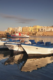 Fishing Boats at the Port, Old Town at Sunrise, Gallipoli, Lecce Province, Salentine Peninsula Photographic Print by Markus Lange