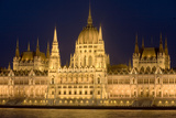 Main Part of Hungarian Parliament on Warm Summer Night, Budapest, Hungary, Europe Photographic Print by Julian Pottage