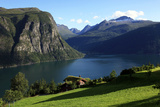 A House Above the Fjord at Valldal, Norway, Scandinavia, Europe Photographic Print by David Pickford