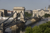 Chain Bridge Seen from Above Clark Adam Square, Budapest, Hungary, Europe Photographic Print by Julian Pottage